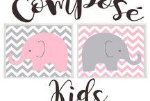 Composé Kids / Bienvenida a COMPOSÉ KIDS Shop la tienda on-line para tu bebé. Aquí podrás encontrar de todo para la habitación de tu bebé como acolchados, chichoneras y sábanas. También encontrarás ajuares, cambiadores
