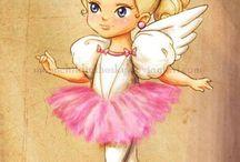 Cute ballerina princesses