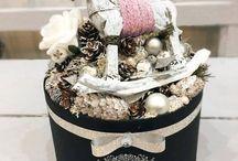Téli dekoráció - Winter decoration / Grincsfa, grincsfa készítés, vintage