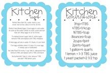 KITCHEN IDEAS/TIPS