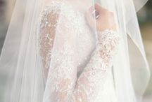 Wedding Veil / Delicate lace and tulle veils.