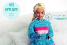 Ubranka dla Barbie / Handmade Barbie clothes