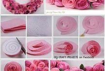 Λουλούδια από χαρτί γκοφρέ κατασκευή