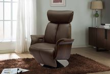 Modern Contemporary Brown Leather Accent Chair
