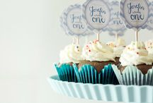 Her blue and white birthday / birthday items, hampers, ideas, blue and white theme