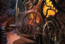 steampunk environment