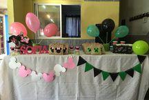 Ezequiel y Sofia birthday! / Ezequiel + Minecraft  Sofia + Minnie Mouse