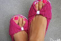 Open toe chrochet slippets