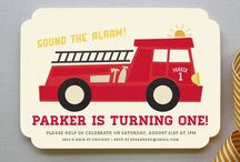 Baby & Kids / Everything baby and kids party themes including invitations, party favors and theme party ideas ★ Fire Engine Fireman / by Firdaus Webgrrl
