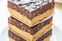 Choc. Peanut butter fudge bars