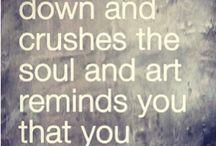 Quotes Inspirational/Art Loving