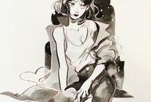 Beautiful Manga Girl