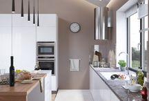 Designideen Küche / Der richtige Mix macht´s auch in der Küche! Heutzutage sind Küchen nicht mehr allein zum kochen da. Im Trend sind gemütliche Wohnküchen. Und warum sollte man nicht auch in der Küche an den Wänden auf Design setzen ?