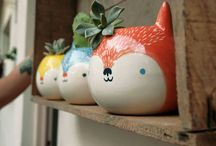 My ceramic pieces / My ceramic pieces <3 100% Hand made and painted ceramic pieces Piezas de ceramica 100% hechas y pintadas a mano