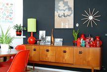 Mid century modern living rooms
