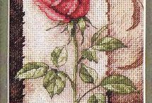 X-stitch flower plant