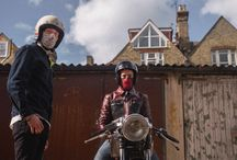 Motorcycle Masks - Cafe Racer CB Honda Bobber / Stylish face masks with slim fit neck warmers perfect for all riders. Summer & Winter styles available. Shipping worldwide. Pre-order below. rarebirdlondon.co.uk