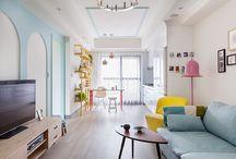 pequeño apartamento de 26 m2 a todo color / Apartamento con todo lujo de detalles y lleno de color.