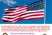 Assignment Help USA / We work 24 hours and 7 days a week to deliver each assignment on time. Money back plans are also available for the students. We provide certified, Non - pirated assignments with unique paper quality. Students from K12 level to the Ph.D level can get benefits of these services. In order to start with your assignment, converse with our live support team now.