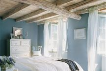 soft blue walls