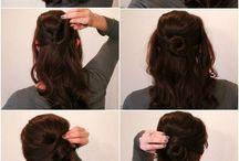 Nopeita kampauksia pitkille ja puolipitkille hiuksille