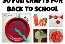 Back to School Crafts / Crafts for when the little ones head back to school after a long holiday