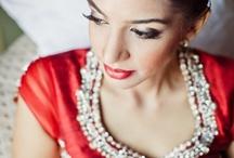 Wedding makeup and clothes