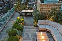 Büyük geniş bahçe tasarımı