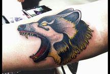 tatouage loup samoudrawink