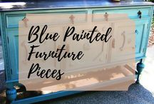 Blue Painted Furniture Pieces