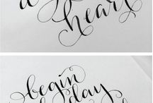 [type] Hand Lettering / Hand lettering / handlettering / typography / type / fonts inspiration made on any medium, using any tools, by hand <3