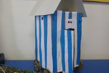 Victorian Bathing Machines / Year 2 recreate beach changing rooms of old