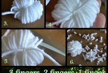 POM POMS and TASSLES DIY / How to make them.