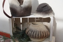 Accessories:  Hand Felted Purses and Hats / Hand Felted Hats and Purses