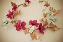 coronas y flores porcelana