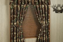 Camo Home Decor / It's a hunter's paradise! Outdoor enthusiasts won't want to miss this camouflage home decor that includes rustic bedding and window treatments.