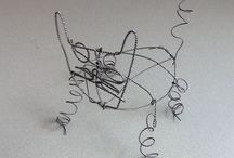 Family Workshop Wire Animal Drawings 29.8.14 / Learn to work in wire and create your own animal. You might make your own zoo full!  All inspired by the Animals and Birds room in the Garman Ryan Collection.  40th anniversary this year.