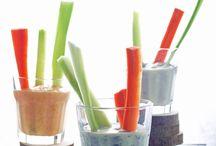 Dips mit Gemüsesticks