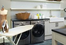 Laundry Rooms / Laundry styling and layout ideas