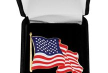 American Flag and Presidential Lapel Pins / White House Gift Shop carries a wide selection of lapel pins that will look great on your suit jacket, blazer, coat, or hat. We carry a variety of pins including USA Flag Pins, Presidential, White House, Military, Air Force One, Great Seal, and many other pins so you are sure to find the lapel decoration you want at a great price with top quality.
