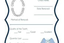 Tooth Fairy Central / Tooth Loss Charts, Tooth Fairy Pillows, etc.