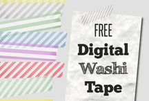 Digital washi tapes