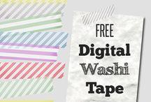 Digital washi tapes