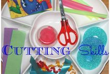 Cutting Activities-GOLD Objective 7-Demonstrates fine motor strngth and coordination / by Nicki Rolling