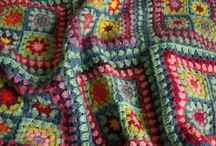 Simple crochet blanket patched