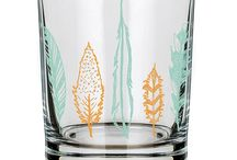 Fiber and Water Rocks Glasses / 14oz. Old Fashioned Rocks Glass Made & Printed in the U.S.A. Top Rack Dishwasher Safe Glasses Sold Individually Sturdy, Unique & Beautiful