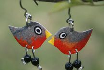 Bird Jewelry / Fun earrings, pendants and necklaces with birds