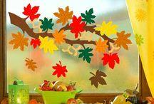 autunno decorazioni scuola / Autunno decorazioni