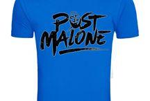 POST MALONE Casual Summer BLUE Short Sleeve T-Shirt S - 2XL