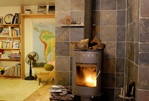 Wall behind the woodstove ideas / by Doug Lawson